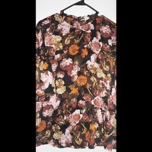Stunning floral print blouse